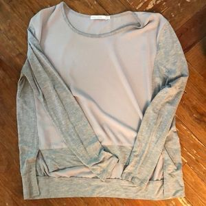 Grey two toned light weight sweater